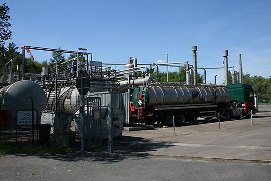 Auch im Landkreis Rotenburg wird an zahlreichen Stellen Erdgas gefördert u2013 wie hier an der Bohrstelle Hemsbünde Z1     Foto: Voigt