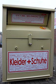 Container mit der Firmenaufschrift Elko-Trans waren mehrfach im Rotenburger Stadtgebiet zu finden         Foto: Woyke