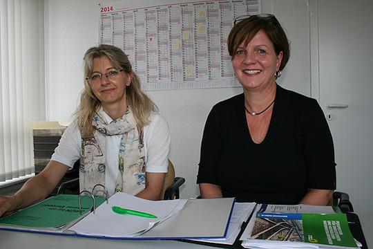 Dr. Ursel Brüning-Wildhagen (links) und Susanne Mrugalla sind die neuen Sprecherinnen der Grünen auf Kreisebene           Foto: Voigt
