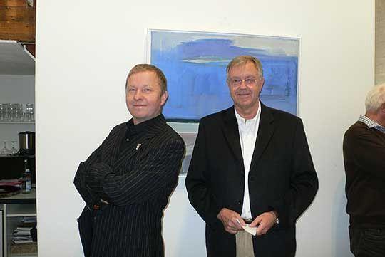 Kai Quedens zusammen Peter Mokrus (rechts), Vorsitzender des Kunstvereins      Foto: le