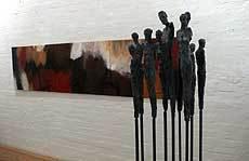 Malerei und Skulptur in enger Verbindung
