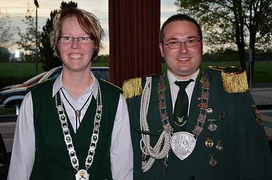 Das neue Wittkopsbosteler Königspaar: Bianca Witt und Patrick Handtke          Foto: Plage