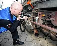 Lkw aus der Ukraine stillgelegt