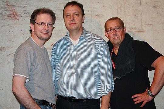 Jürgen Dähn, Roman Bruhn und Jörg Schmitz laden ein zur ersten Rocknacht in Bötersen