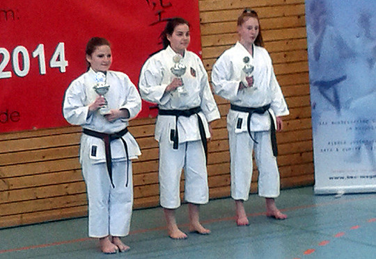 Die Preisträgerinnen des Turniers