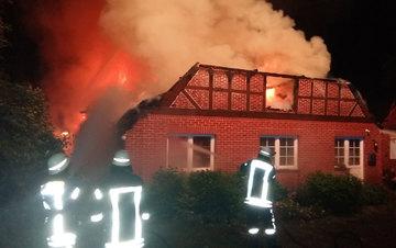 Sottrum Haus brennt bis auf Grundmauern nieder