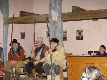 Christgeburtspiel auf dem Parzival-Hof Fotos von Elke Keppler-Rosenau